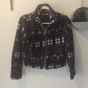 Palmettos vintage fleece Sherpa fall cropped